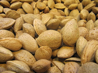Almonds, almendras.