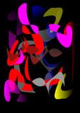 Fototapete Geometric shapes - Hintergrund - Kunst