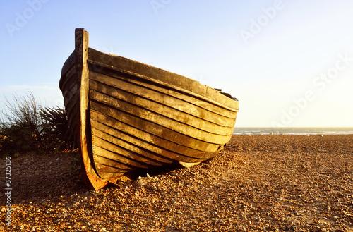 Fisherman barque at sunset