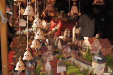 little bells at medieval market, esslingen