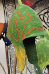 fabric cap at medieval market, esslingen