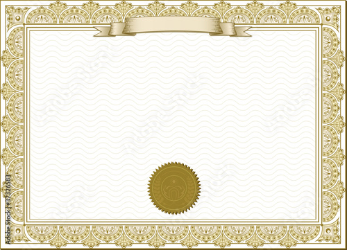 Gold detailed cerificate