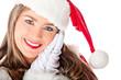 Detaily fotografie rozkošné ženské santa