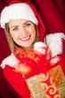 Generous female Santa