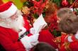 Santa reading to the kids
