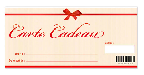 carte cadeau - bon de réduction