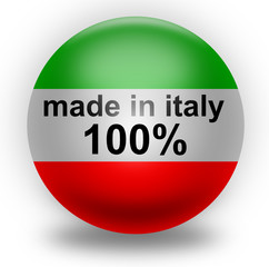 Made in italy 100% (vector)