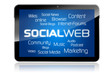 Tablet mit Socialweb