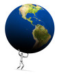 Man Lifting Earth (Americas)