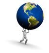 Man Lifting Earth