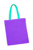 purple cotton bag isolated with clipping path