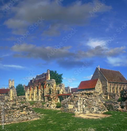 Medieval ruins at Canterbury cathedral, UK , UNESCO