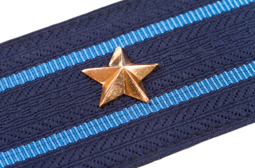 Shoulder strap of russian army on white background