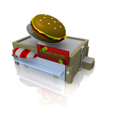 3d fast food buildung