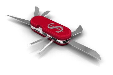 Penknife with Dollar Symbol