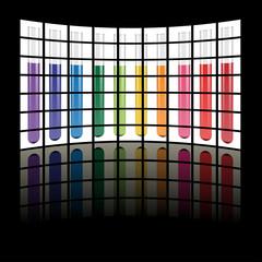 vector test tubes on lcd tv panels
