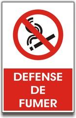 pancarte interdiction de fumer