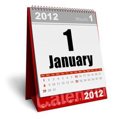 Desktop calendar 2012