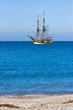 Fototapete Wolken - Farbe - Segelboot