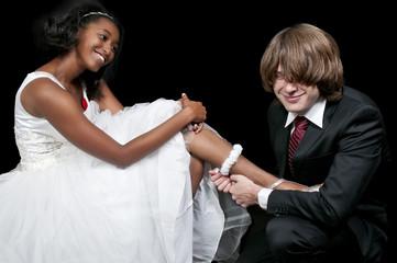 Man with Garter on Black Woman