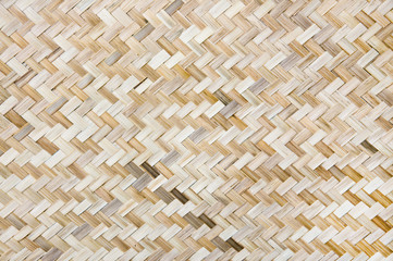 Bamboo Weave Show Of Pattern Background.