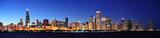 Chicago night panorama - 37338589