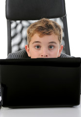 boy at the computer