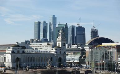 Kievsky train station and international business centre. Moscow