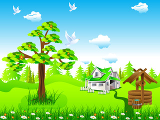 house and nature