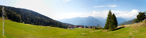 Panorama of Montecampione, Valcamonica, Lumbardy, Italy