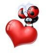 cuore coccinella
