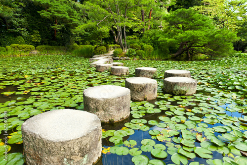 In de dag Tuin Stone zen path