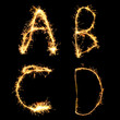 Real Sparkler Alphabet (see other letters in my portfolio). A B