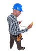 electrician looking at his measurement tool