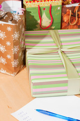 Many gifts and gift list