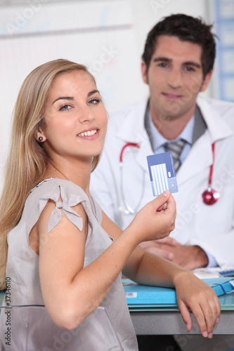 Girl with European Health Card