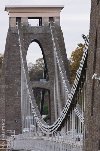 Brunel's historic suspension bridge over the Avon Gorge UK