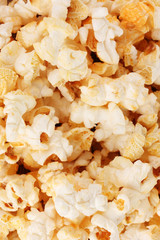 tasty popcorn closeup