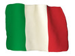 Italy flag of clay
