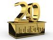 Jubiläum 20 Podest gold