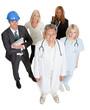 Working people illustrating career options