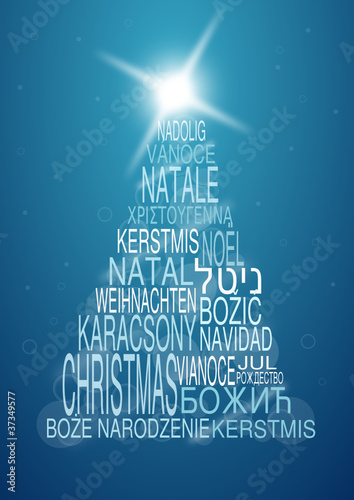 multilingual christmas background