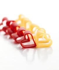 Heart-shaped pasta