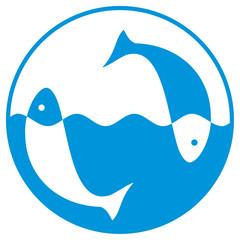 fish design (badge)