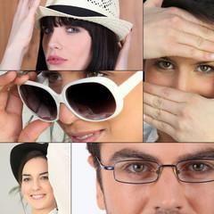 many facial expressions