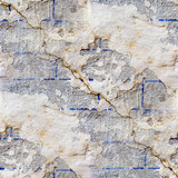 wall with cracks seamless texture with fissure poster