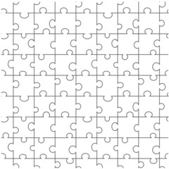 Vector seamless puzzle