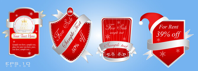 Vector Xmas Stickers