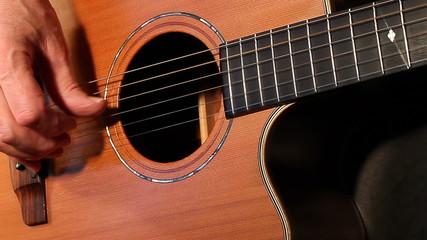 Guitar player fingerpicking