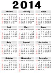 calendar 2014,vector image